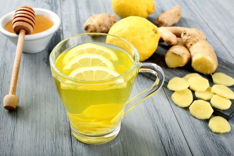 trà gừng nóng giúp trị sổ mũi