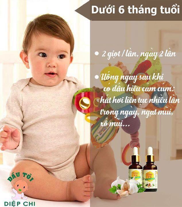 trị sổ mũi cho bé dưới 6 tháng tuổi